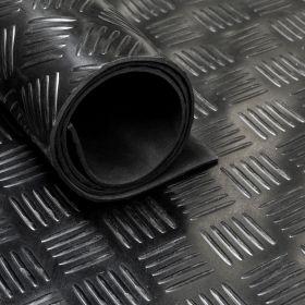 Stuoia/tappetino in gomma su rotolo- Motivo mandorlato-3 mm- Largo 160 cm