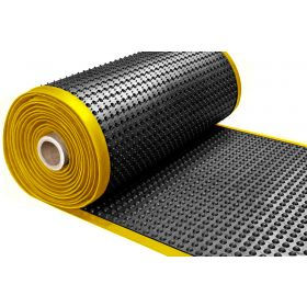 Tappeto da lavoro ergonomico in rotolo - Con bordi gialli - Spessore 15 mm - Largo 91 cm