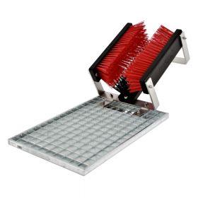 FloorMAX Classic professionele voetenveger / schoenborstel met rooster - Enkelvoudig