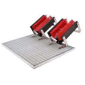 FloorMAX Exklusiv professionele voetenveger / schoenborstel met rooster - Dubbel