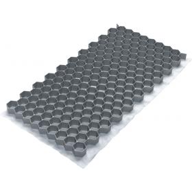 Tappeto a griglia per ghiaia Fix Lite - circ. 40x80 cm - 0,3 m² - grigio