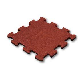 Mattonella in gomma anti trauma  25 mm- 50x50 cm - Sistema a puzzle – Pezzo centrale
