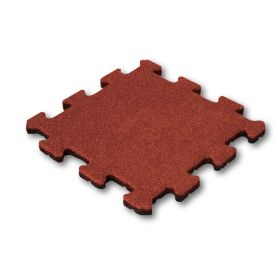 middelstuk rode puzzeltegel