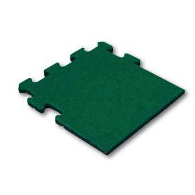 mattonelle in gomma con sistema a puzzle-verde