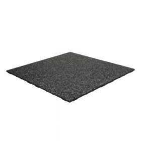Mattonella in gomma 'FIFTEEN' - pavimento sportivo - 100x100cm - spessore 20mm - Grigio chiaro EPDM / Nero SBR