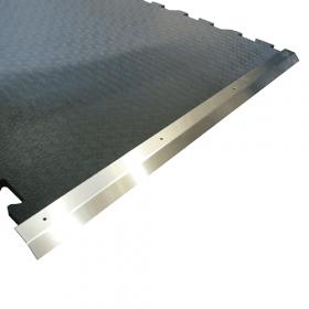 Rampa in acciaio INOX adatta a tappeti per stalla da 100 x 100 cm
