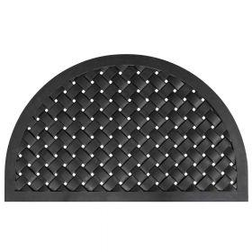 Tappeto ingresso in gomma semicircolare Weave - 56 x 91 cm