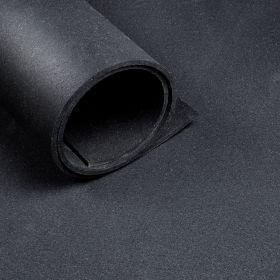 Pavimento sportivo *Premium* al metro  - Largo 1,25 metri  - Spessore 6 mm - Nero